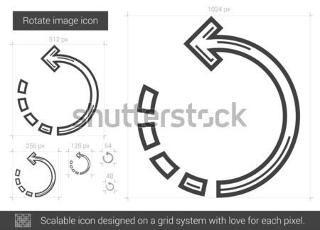 Rotate image line icon. Stock photo © RAStudio