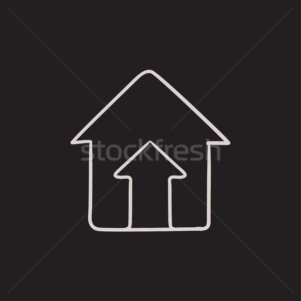 Growth of real estate market sketch icon. Stock photo © RAStudio