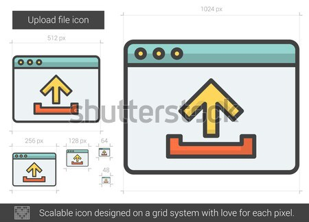 File moving line icon. Stock photo © RAStudio