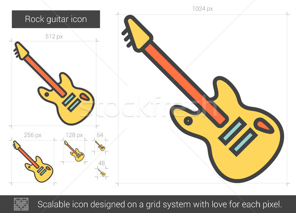 Rock guitar line icon. Stock photo © RAStudio