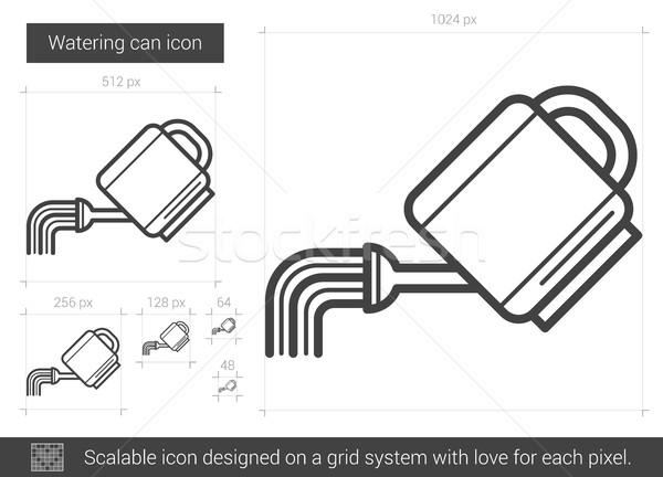 Regador linha ícone vetor isolado branco Foto stock © RAStudio