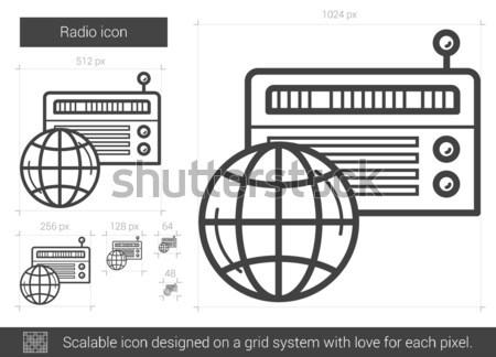 Radio line icon. Stock photo © RAStudio