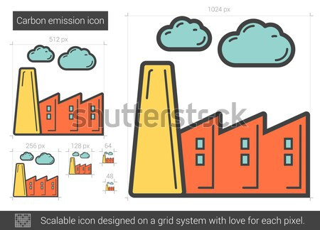 Carbon emission line icon. Stock photo © RAStudio