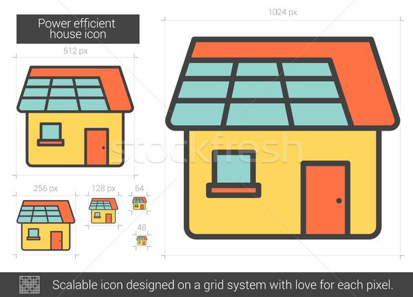 Power efficient house line icon. Stock photo © RAStudio