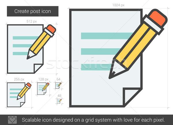 Create post line icon. Stock photo © RAStudio