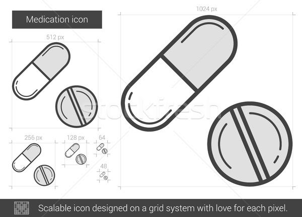 Medication line icon. Stock photo © RAStudio