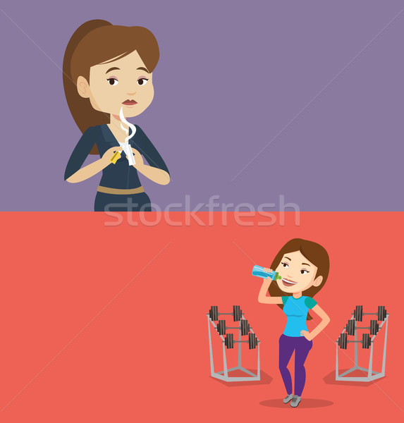 Two lifestyle banners with space for text. Stock photo © RAStudio