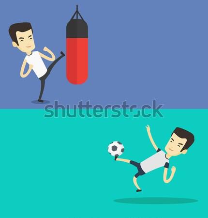 ストックフォト: 2 · スポーツ · バナー · スペース · 文字 · ベクトル