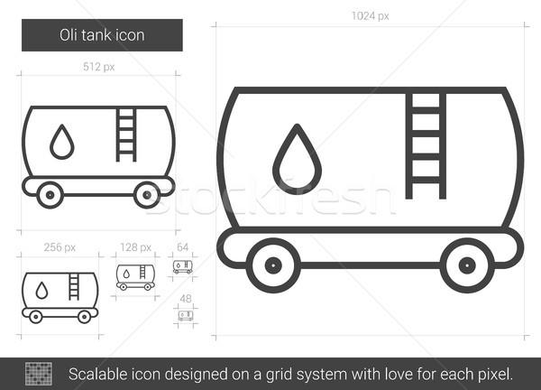 Olie tank lijn icon vector geïsoleerd Stockfoto © RAStudio