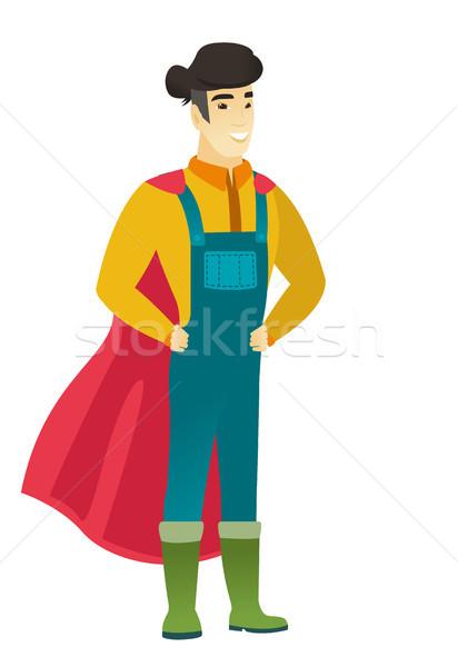 Farmer wearing a red superhero cloak. Stock photo © RAStudio