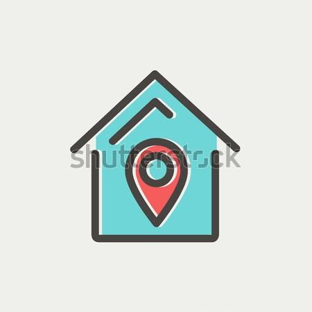 House location line icon. Stock photo © RAStudio