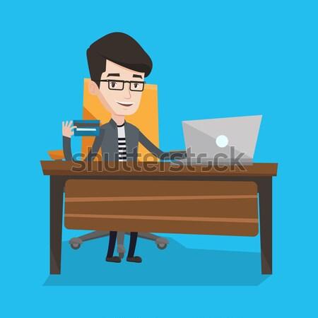 Podpisania działalności umowy biznesmen biuro człowiek Zdjęcia stock © RAStudio