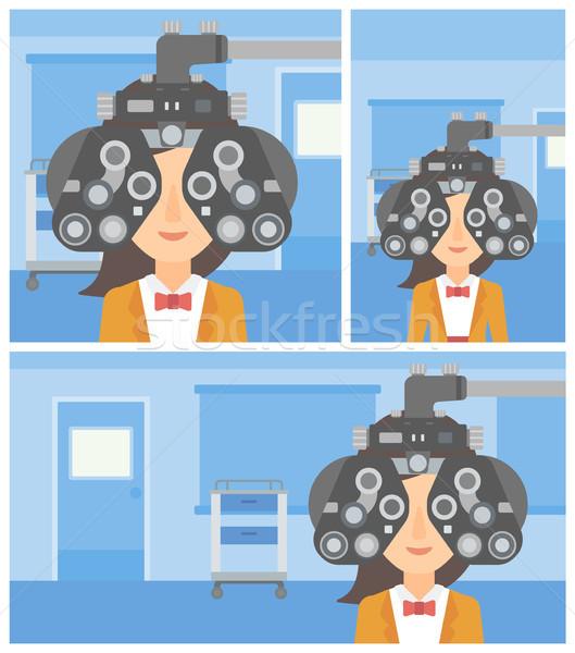 Сток-фото: пациент · глаза · оптик · медицинской