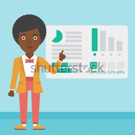 Businessman making business presentation. Stock photo © RAStudio