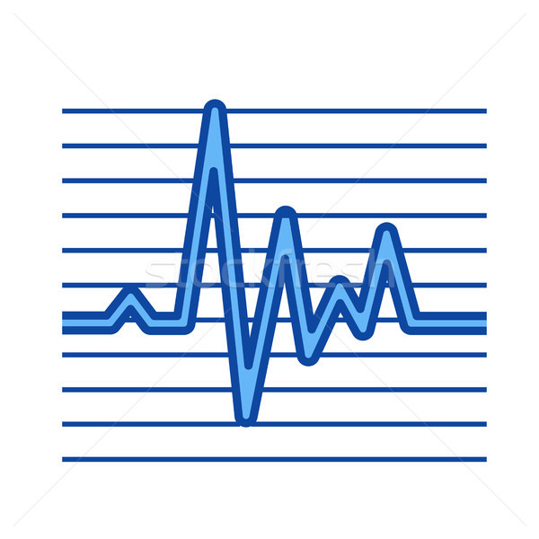 Cardiogram line icon. Stock photo © RAStudio