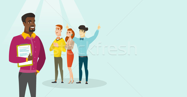 Young business people applauding at conference. Stock photo © RAStudio