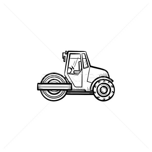 Steamroller hand drawn sketch icon. Stock photo © RAStudio