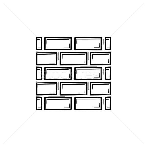 Brickwall hand drawn sketch icon. Stock photo © RAStudio
