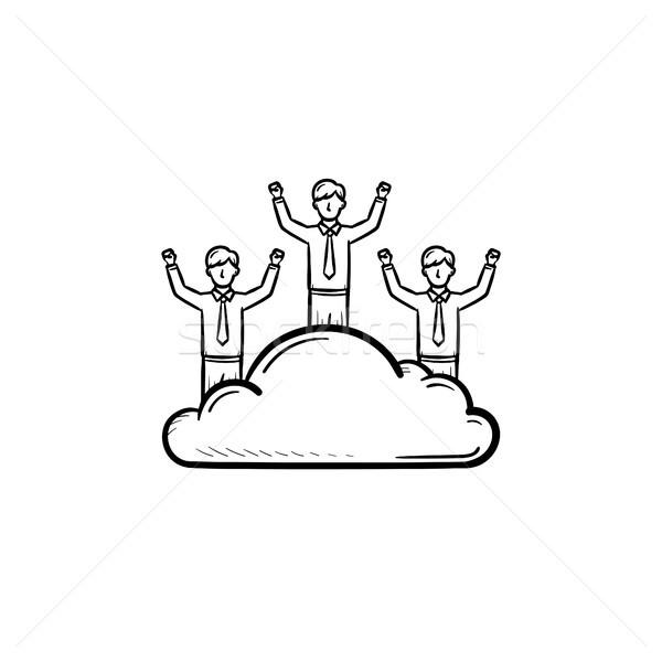 Homem sonhador esboço ícone Foto stock © RAStudio