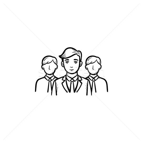 Grupy ludzi szkic ikona zespołu wektora Zdjęcia stock © RAStudio