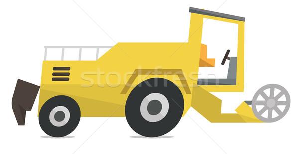 Modern combine harvester vector illustration. Stock photo © RAStudio