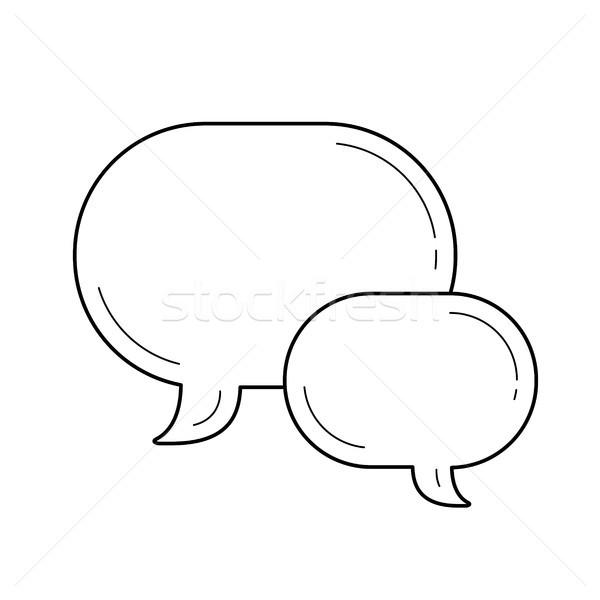 Chat bubbles line icon. Stock photo © RAStudio