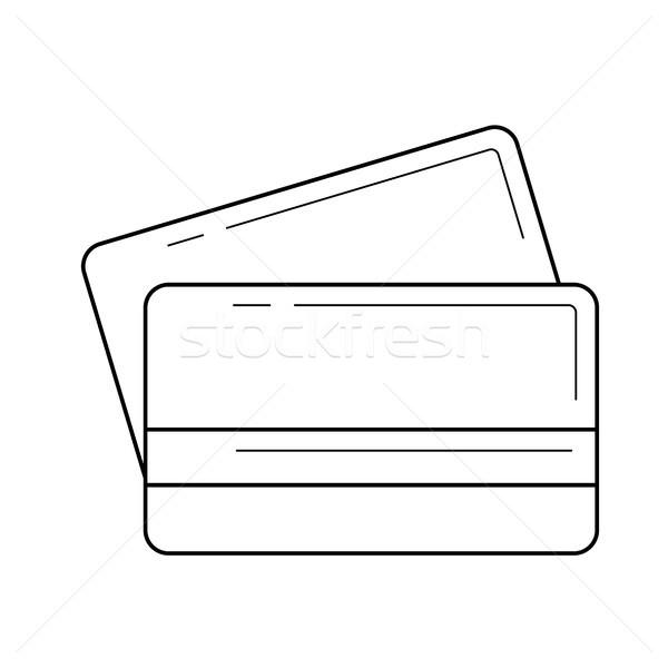 Credit cards line icon. Stock photo © RAStudio
