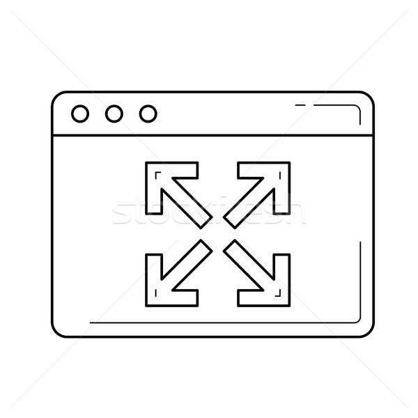 Expansion line icon. Stock photo © RAStudio