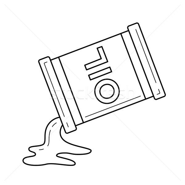 Olaj vektor vonal ikon izolált fehér Stock fotó © RAStudio