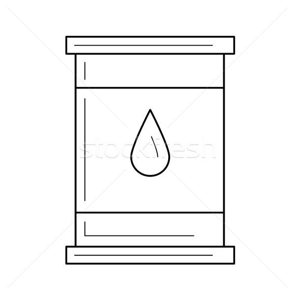 нефть баррель вектора линия икона изолированный Сток-фото © RAStudio