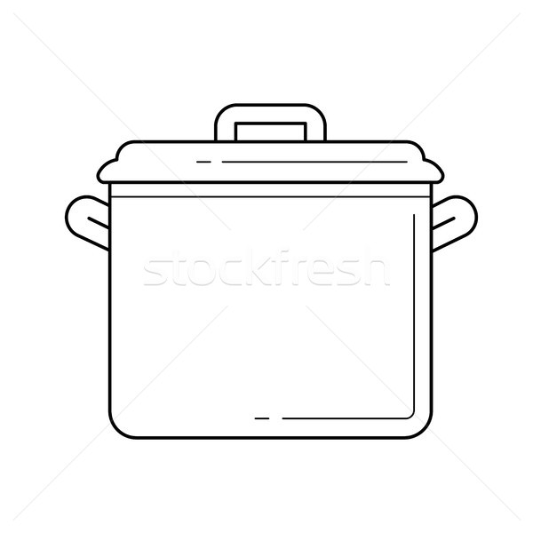 Saucepan vector line icon. Stock photo © RAStudio