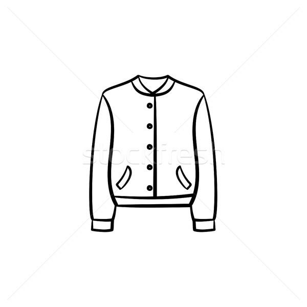 Fashion jacket hand drawn sketch icon. Stock photo © RAStudio