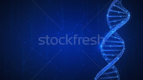 Dna technologie futuristische banner spiraal keten Stockfoto © RAStudio