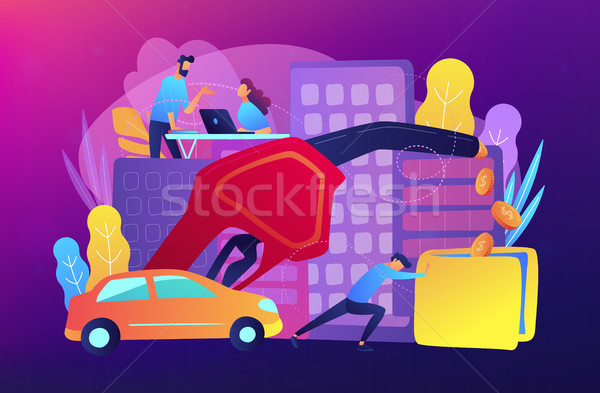 Fuel economy concept vector illustration. Stock photo © RAStudio