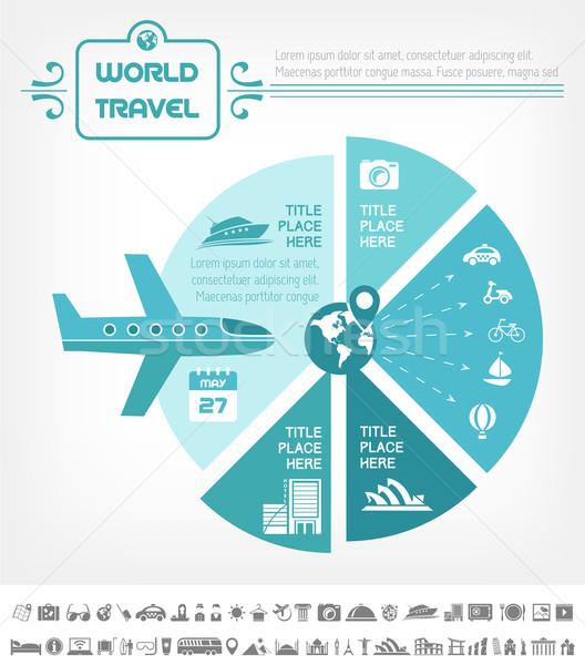 ストックフォト: 旅行 · インフォグラフィック · テンプレート · 要素 · プラス