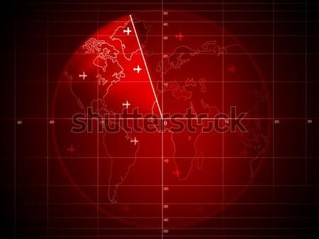 Radar ekranu szczegóły grafiki komputera Zdjęcia stock © RAStudio