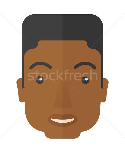 Arc afrikai férfi mosolyog férfi fej Stock fotó © RAStudio