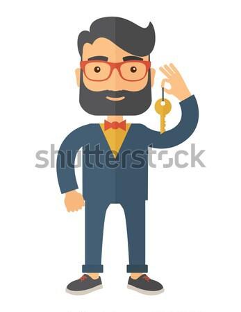 Ausfall chinesisch Geschäftsmann stehen Hand Stock foto © RAStudio