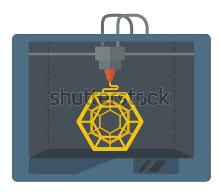 Isometric 3D Printer on a white background Stock photo © RAStudio