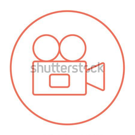Video camera icon drawn in chalk. Stock photo © RAStudio