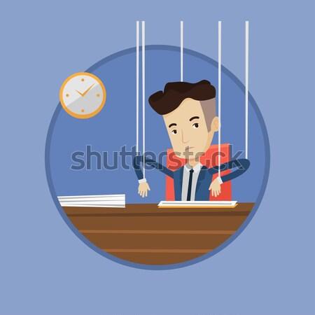 Date limite deux peur affaires bureau Photo stock © RAStudio