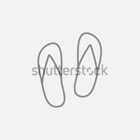 Beach slipper line icon. Stock photo © RAStudio