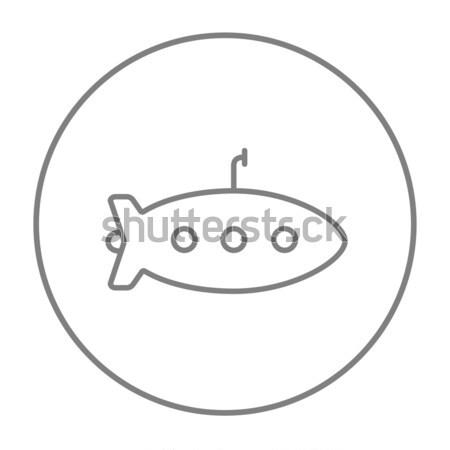 Podwodny line ikona internetowych komórkowych infografiki Zdjęcia stock © RAStudio