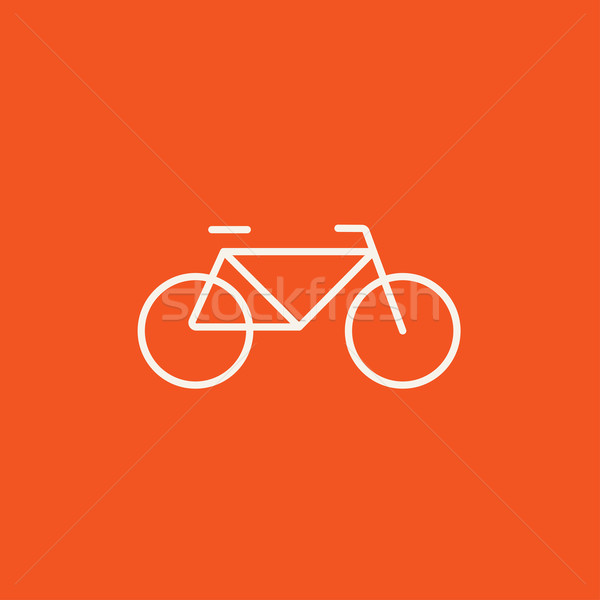 Stock photo: Bicycle line icon.