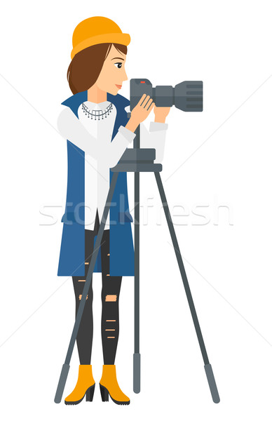 Photographer working with camera. Stock photo © RAStudio
