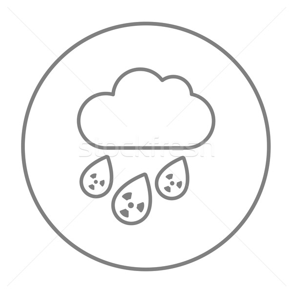 Radioactive cloud and rain line icon. Stock photo © RAStudio