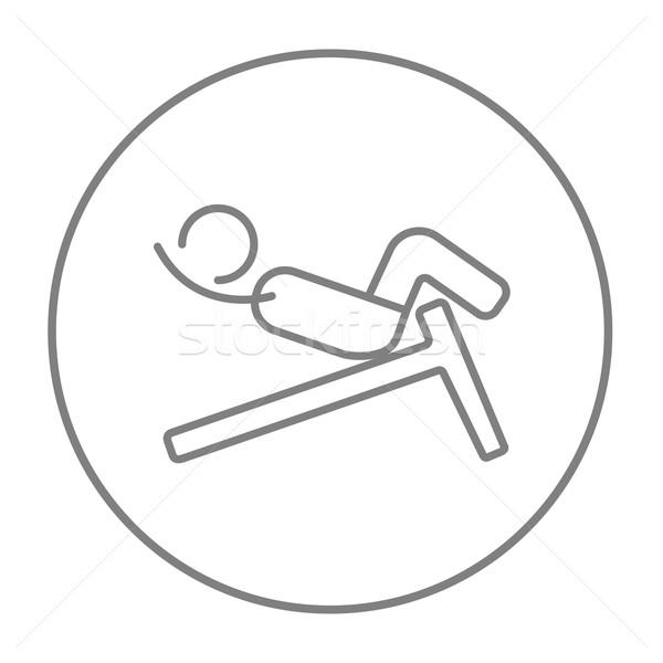 Adam bank hat ikon web hareketli Stok fotoğraf © RAStudio