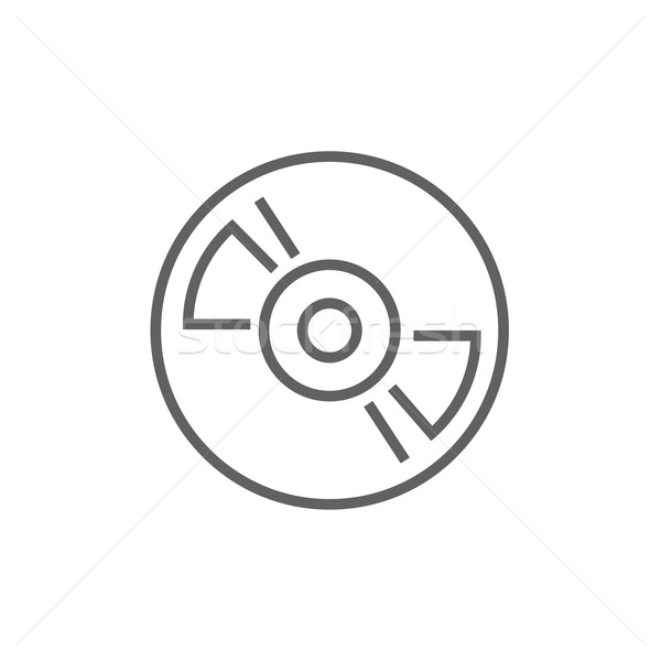 Stock photo: Reel tape deck player recorder line icon.