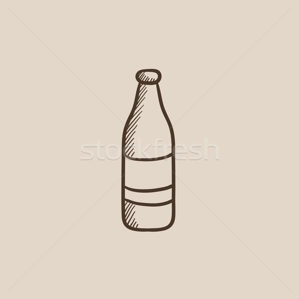 ガラス ボトル スケッチ アイコン ウェブ 携帯 ストックフォト © RAStudio