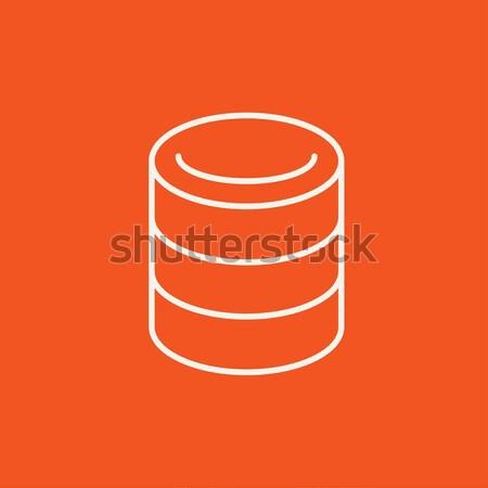 Számítógép szerver vonal ikon sarkok háló Stock fotó © RAStudio